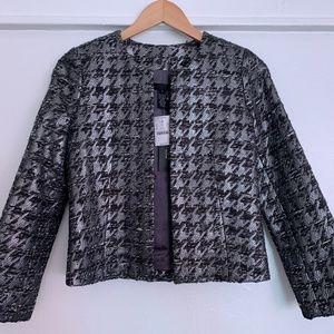 J Crew Collection Blazer Size 0 Black/Gray/Silver
